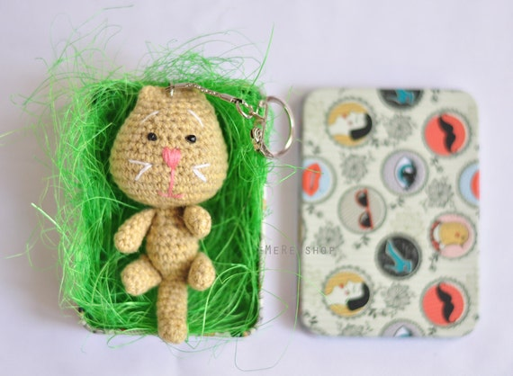 Amigurumi Kitty Ring Holder : Amigurumi Cat Stuffed Plush Keychain Cat amigurumi by ...