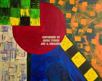 """Painting """"Tree Garden"""" (structured garden) 80 x 80"""