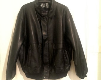 Leather Bomber Handmade
