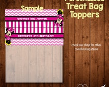 MINNIE MOUSE BIRTHDAY treat bag toppers- Digital File