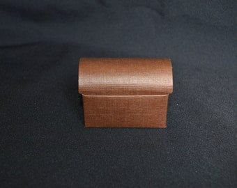 Brown Trunk Paper Favor Boxes- Set of 12