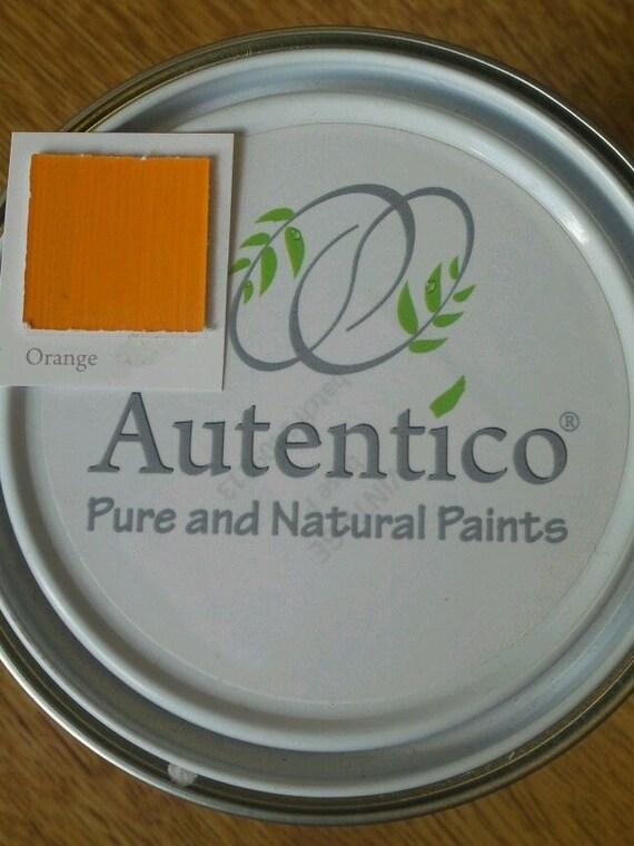 Orange - Autentico Chalk Furniture Paint -- Tester - No Prep