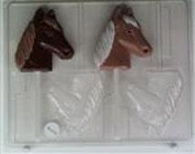 HORSE HEAD lollipop Chocolate Mold, Wax Mold, Clay Mold, Party Favor, Wax Tart Mold, Mint Mold, Soap Mold, Birthday, Butter Mold AO-102 cc