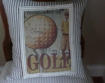 Vintage Look Golf Pillow