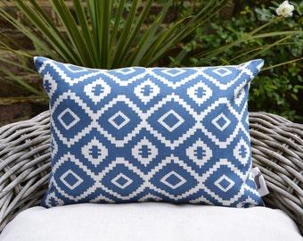 Nazca Blue Aztec Cushion Cover