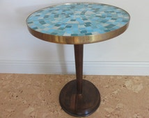 Mid-Century Modern Mosaic Tile Top Table In The Manner Of Jane And Gordon Martz For Marshall Studio's.