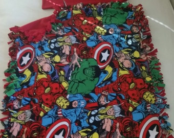 Fleece Marvel Handcrafted Blanket with FREE Matching Pillowcase