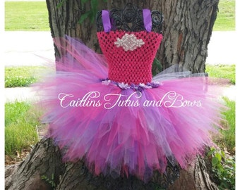 Princess tutu dress, birthday princess dress, pageant tutu dress, pixie cut tutu dress, pink and purple tutu dress, pink and purple tutu,