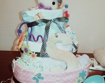 Alice in wonderland Mad Hatter Diaper Cake