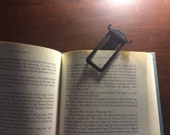 Black Mustache Bookmark Clip made from 3D Plastic