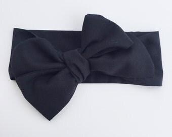 Black headwrap, headband, headscarf