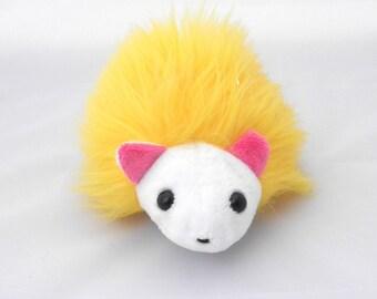 Plush Yellow Hedgehog, Cute Toy Hedgehog
