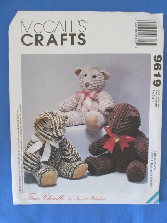 McCall's Teddy Bear Pattern