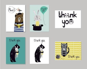 Collection of 6 Thank You Cards
