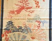 Japanese Print Fabric Panel