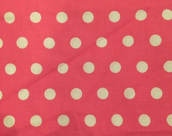 Hot pink and white dotty fabric