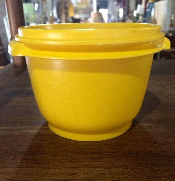 Yellow Kitchen Storage: Vintage Yellow Tupperware Vintage Kitchen Storage Yellow