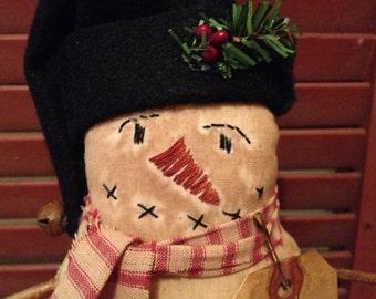 Primitive Happy Snowman