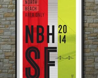 SF Muni Poster: North Beach