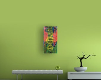 On Target, 30 x 15 Original Modern Abstract Painting By Martha Brito