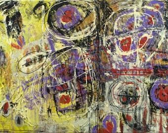 Dreamcatcher, 36 x 24 Modern Abstract Painting By Martha Brito Original Artwork
