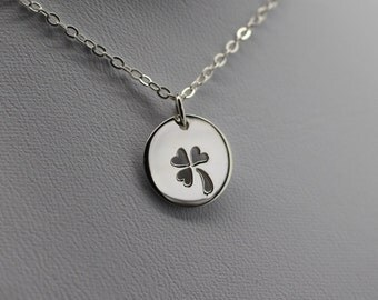 THREE LEAF CLOVER Necklace - 925 Sterling Silver Luck Lucky Shamrock Cutout New