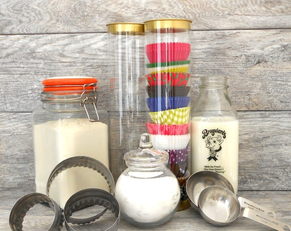 Cupcake Liner Organizer, Clear Tube for Baking Cups - Set of 3 - Unique Gift