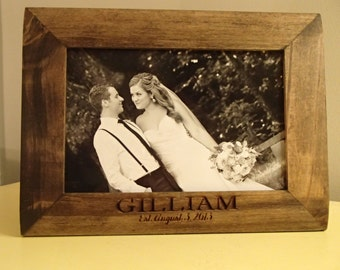 Laser Engraved Wood Picture Frame