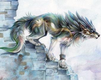 A4 Print  'Wolf Link'