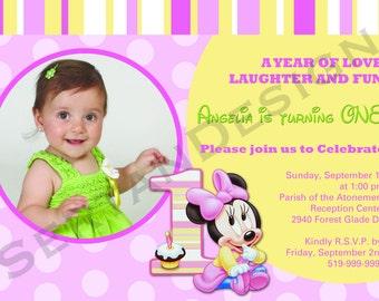 Minnie Mouse Birthday 5x7
