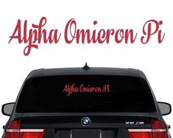 AOII Alpha Omicron Pi Decal Sorority Decal Laptop Sticker Car Decal