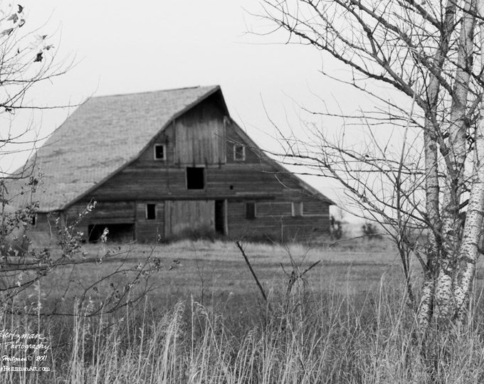 Barn Photo Barn Photography Black and White Photography Monochromatic Barnwood by Nicole Heitzman