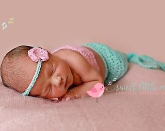 Baby Mermaid Costume, Mermaid Costume, Newborn Mermaid Costume, Crochet Baby Mermaid Outfit, Newborn Mermaid prop Baby Mermaid Tail Mermaid