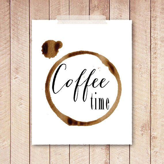 Kitchen Art Printables Collection Sale Instant Download: 70% SALE OFFCoffee Time Coffee Sign Kitchen By