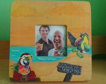 tropical beach decor picture frame