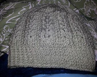 openwork knit hat