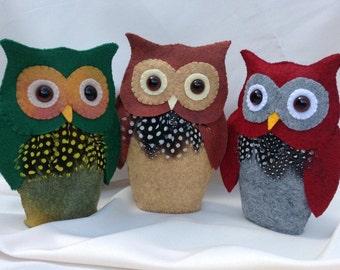 Felt Owl - a PDF NZ pattern designed by Cherry Parker