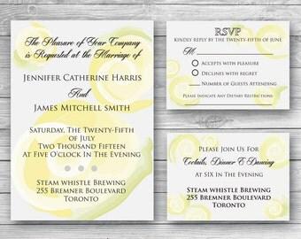 Isabella Wedding Invitation Set - Digital Download