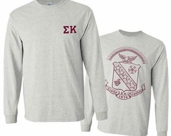 Sigma Kappa World Famous Crest Long Sleeve T-Shirt