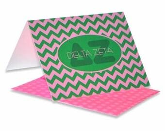 Delta Zeta Chevron Note Cards