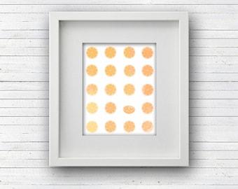 Oranges Watercolor Printable Art Orange Citrus Digital Instant Download Poster Wall Print