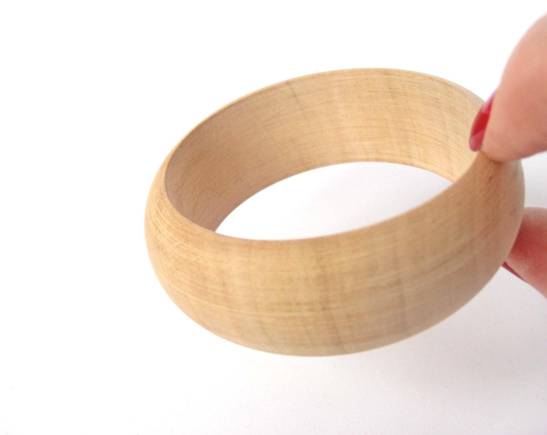 mini wooden bracelet 25 mm unfinished wood bangle wood