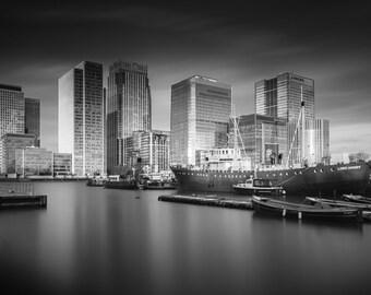 London Fine Art Photo Print: London Dock and The City of London