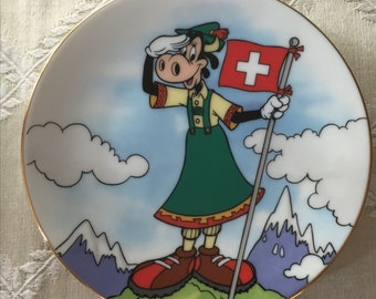 Miniature Disney Clarabelle Cow Plate -- Switzerland