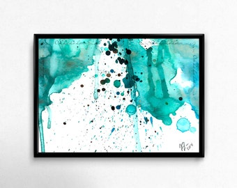 Modern Art Print Abstract Art Print Home Decor Wall Art Fine Art Print Modern Abstract Art Abstract Watercolor Print Watercolour Painting
