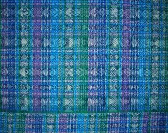 0015C - Vintage Authentic Guatemalan Tapestry - (Blue)