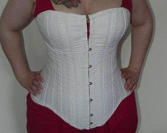 corset, historical victorian hourglass, handmade, custom, all sizes, plus sizes