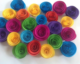Paper flowers/ Paper rolled roses /Event decoration /Table decoration / Pack of 10