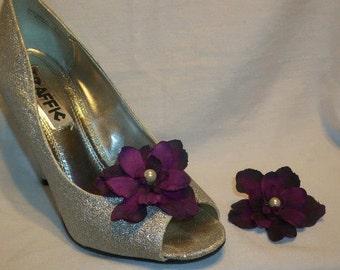 Floral shoe clips