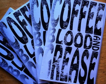 Coffee Blood And Grease Zine